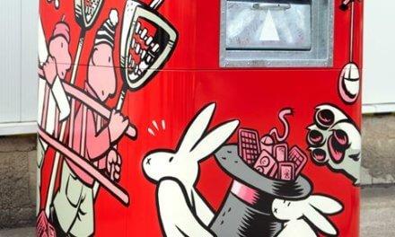 Nejoblíbenější streetartový kontejner na elektroodpad mají v Hradci Králové