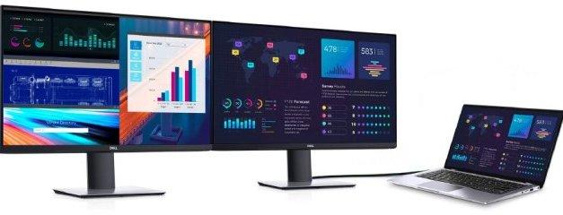 Studie Dell ukázala, jak využití monitorů při práci na notebooku zvyšuje její produktivitu