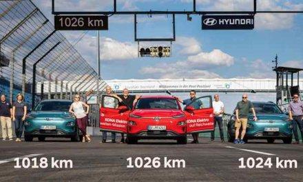 Hyundai Kona Electric stanovil rekord v dojezdu: na jediné nabití ujel 1026 kilometrů