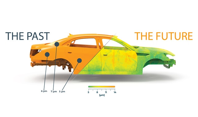 SprayVision využívá Porsche i Fiat, umí šetřit barvy i energii