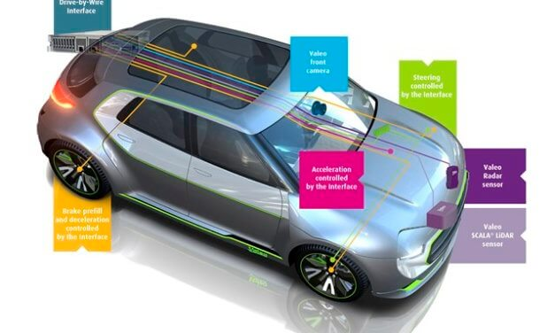 Valeo ve spolupráci s VŠB-TUO vyvíjí auto s řízením drive-by-wire