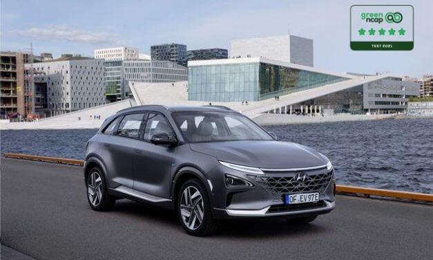Elektromobil Hyundai NEXO získal pětihvězdičkové ocenění Green NCAP