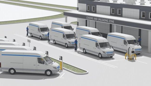 Společnosti ABB a Amazon Web Services budou řídit flotily elektromobilů